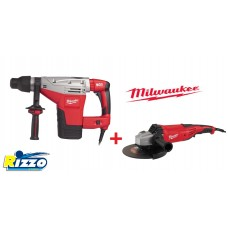 KIT MARTELLO DEMO PERFORATORE 5KG MILWAUKEE K 545 S + SMERIGLIATRICE AG22-230DMS