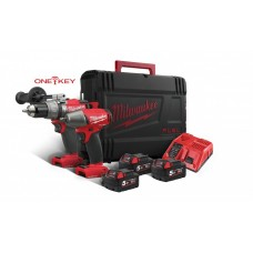 KIT 18V TRAPANO M18ONEPD + AVVITATORE AD IMPULSI M18ONEIWF + 3 BATTERIE - MILWAUKEE ONE-KEY