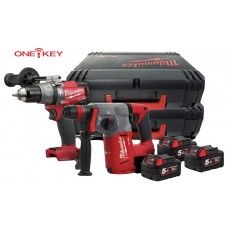 KIT 18V TASSELLATORE M18CHX + TRAPANO M18ONEPD + 3 BATTERIE - MILWAUKEE ONE-KEY