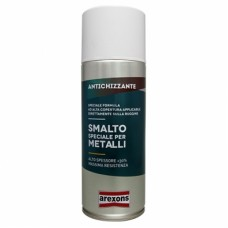 SMALTO SPECIALE PER METALLI ANTICHIZZANTE NERO RAL 9005 BRILLANTE 400ML AREXONS
